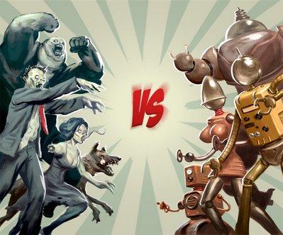 Zombie VS Robot!!!