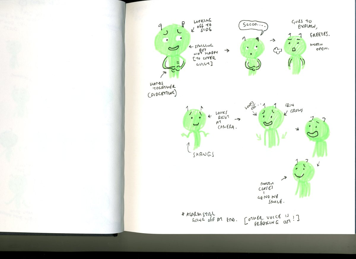 Alien character –Script