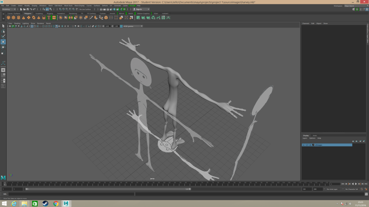 Modelling a character inMaya