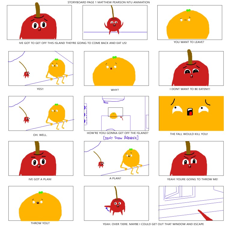 STORYBOARD FRUIT PAGE 1